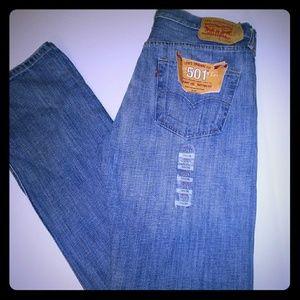 Levi Men 501 Jeans 34x36 NWT Orginal Fit